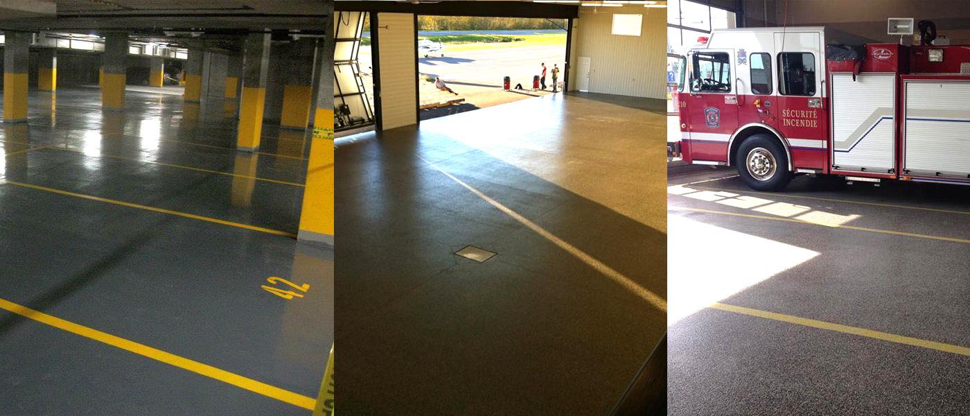 Parking deck and garage