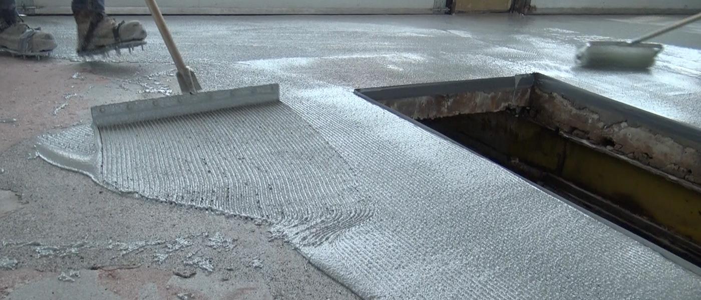 Self-leveling cementitious polyurethane