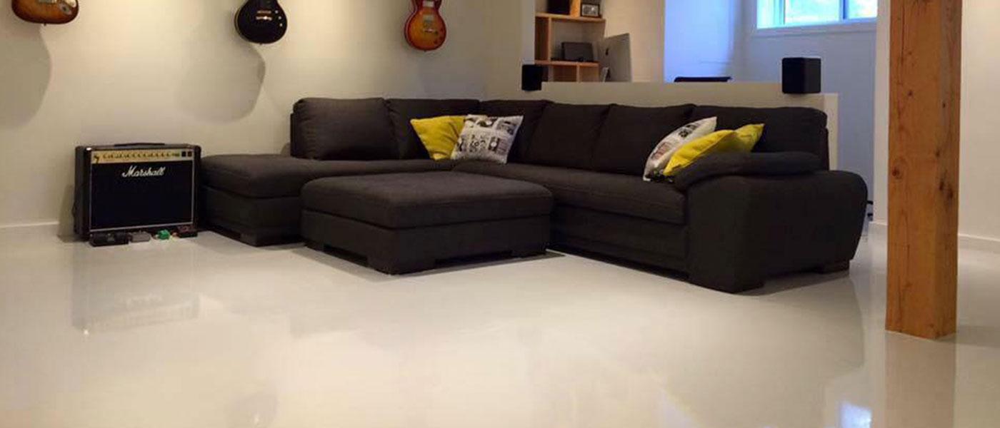 solid color epoxy floor